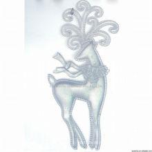 Klare Kunststoff Weihnachten Elch Dekorationen Rentier