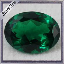Rodada, verde, solto, gemstone, nano, Spinel, sintético, Spinel
