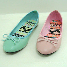 2014 мода случайных зеленых или розовых женщин плоская обувь балерина