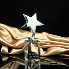 Troféu de estrela de metal troféu de cristal de festa de artesanato