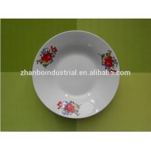 Restaurante de servicio personalizado de larga vida y plato de cerámica de uso diario