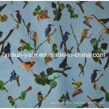 Tela feita sob encomenda da cópia de matéria têxtil do poliéster home do fornecedor de matéria têxtil
