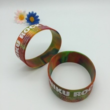 Cheap Swirl Silicone Band with Custom Logo