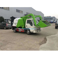 Forland pequeno caminhão de lixo tipo hidráulico aberto