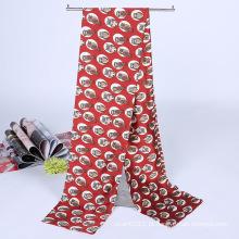 Moda senhora imprimiu cetim de seda mágica lenço de colarinho mutifuncional (yky1091-5)