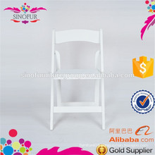 SINOFUR Brand outdoor solid wood wedding folding chair