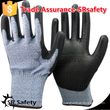 SRSAFETY 13 gauge Cut level 5 protective gloves, ANTI cut glove with free sample