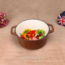 Meilleur vente Casserole Cast Iron Brown Enamel Korea Cook Pot