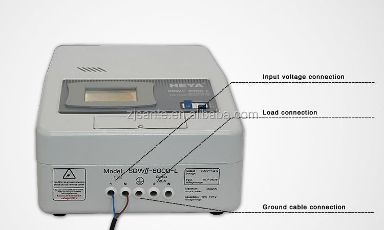 Wide Input Range 6KVA 5000W 220VAC Relay Type AC Automatic Voltage Regulator Stabilizers