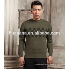 man's jacquard cashmere fashion sweater
