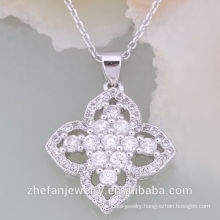 Best Austrian style Newest Design CZ White Stone Necklace Set Rhodium plated jewelry is your good pick