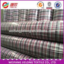 alta calidad 100% algodón liso teñido tela de camisas para la ropa 100% algodón hilado teñido tela de la raya / camisas de los hombres