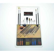 cepillo de cepillos del artista de los aceites y de los acrílicos, pinceles plásticos del dibujo profesional de los cabritos