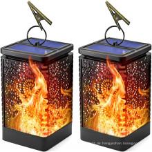 Tanzende Flamme Wasserdichtes Solar-Garten-Hängelicht im Freien