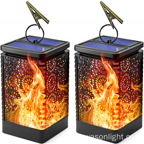 Dancing Flame Impermeable al aire libre Solar Garden Hanging Light