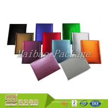 Amostra grátis À Prova de Choque Personalizado Colorido Metálico Mylar Foil Bolha de Ar Acolchoado Mailing Bag / Fosco Bubble Mailer