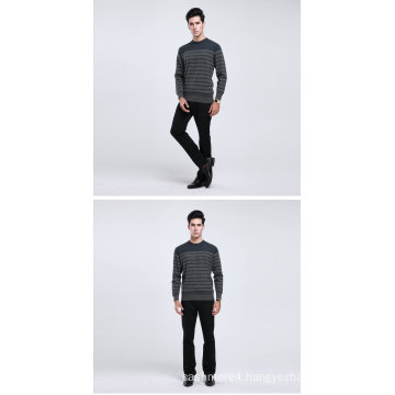 Yak Wool/Cashmere Round Neck Long Sleeve Pullover Sweater/Clothing/Garment/Knitwear