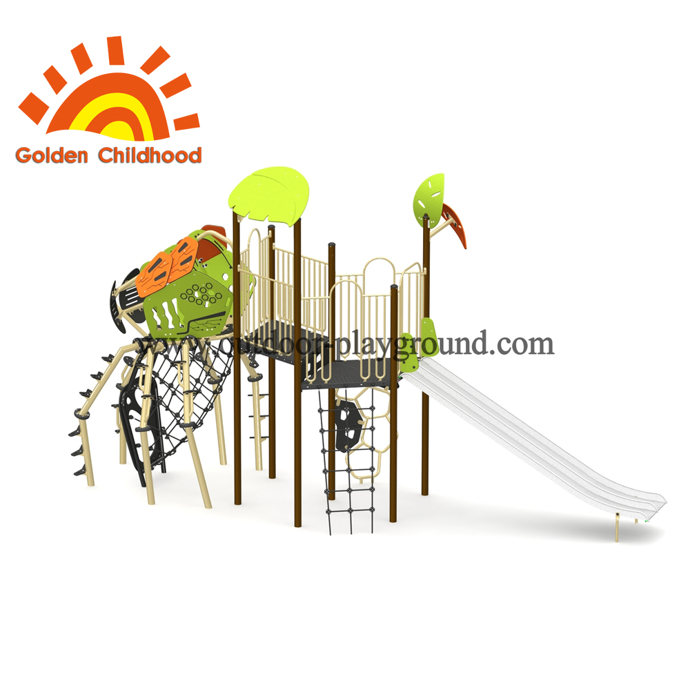 Single Insect Playground Equipment Facility For Children
