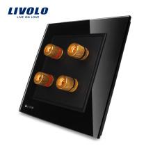 Livolo 2 Sets Home Wall Sonorité / Acoustique Socket / Plug VL-W292A-11