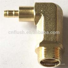 Bronze personalizado da precisão do cnc encaixe de 90 graus