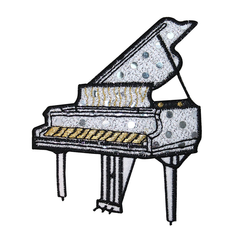 Piano Applique Patch