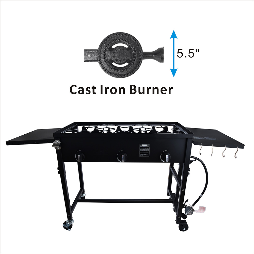 Three Outdoor Gas Burner