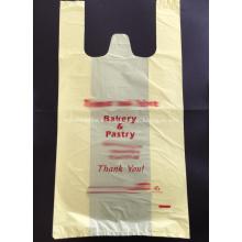 Bolsa de plástico para ir de compras en amarillo