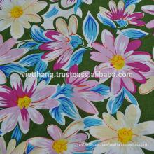 100% Viskose Stoff / bedruckt / glatt geschmiedete Blätter, Frauenkleid, Vorhänge ...