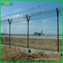 Grille de clôture de l'aéroport / Grille de clôture de la colonne de type pêche / garde-corps bilatéral
