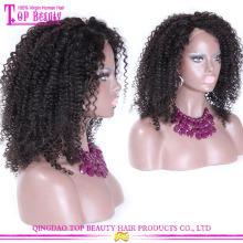 China Hersteller Großhandel große Afro Perücken 100 % natives Negerinnen brasilianischen natürlichen Afro-Haar Echthaarperücken