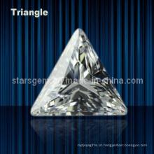 Brilhante Corte Triângulo Forma Cúbico Zircônia Gemstone