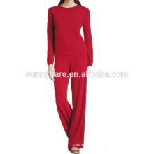 100% traje de cachemira para mujer