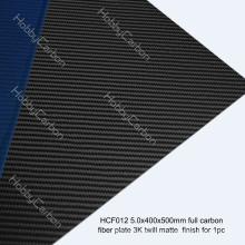 Профессиональный полный углерода 3k Саржевого матовая пластина для БПЛА/fpv и/вертолет