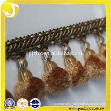 stock pom pom tassel Fringe for dresses and home decoration