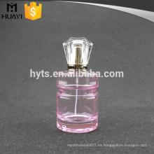 Botella de perfume redonda del color rosado 100ml