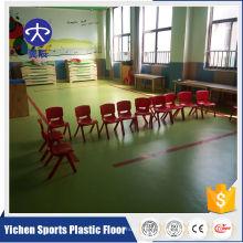 Revêtement de sol en pvc rouleau PVC décoration plancher / école / jardin d'enfants