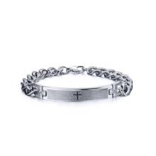 Bracelets religieux de prière chrétienne de croix, bijoux de bracelet de chaîne trapu
