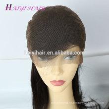 La peluca brasileña del pelo humano alineó la peluca sin cola del cordón de la peluca del pelo