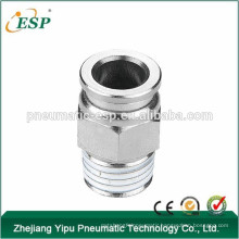ESP high quality male female straight plastic air tube fittings with brass sleeve