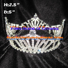 All Clear Crystal Full Round Pageant Crowns