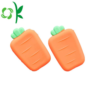 Paling baru Cute Carrot SIlicone Wallet Facy Coin Purse