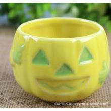 Tigela de abóbora de cerâmica