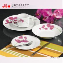 Ensembles de dîner en céramique de forme ronde de vaisselle