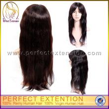 Para Black Girl Remy Hair Kinky Silk Top Pelucas Judías de la Virgen China