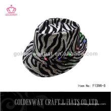 Zebra Stripe LED chapeau sequin