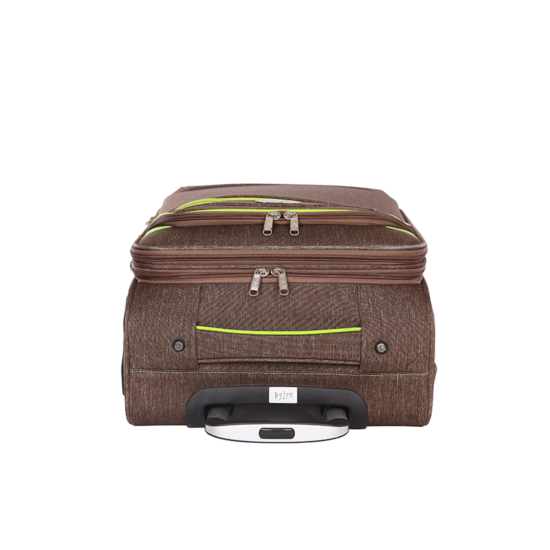 Waterproof brown fabric trolley luggage 4