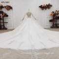 Jancember HTL1551 Wedding Dress Luxury Crystal Beaded Tulle Ball Gown Wedding Dresses