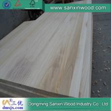 Placa de painel colada borda de Paulownia Preço de madeira paulownia