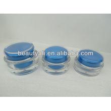 Tarro de acrílico cosmético para el envase