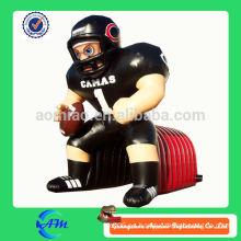 Túnel inflable gigante del jugador de fútbol del nfl